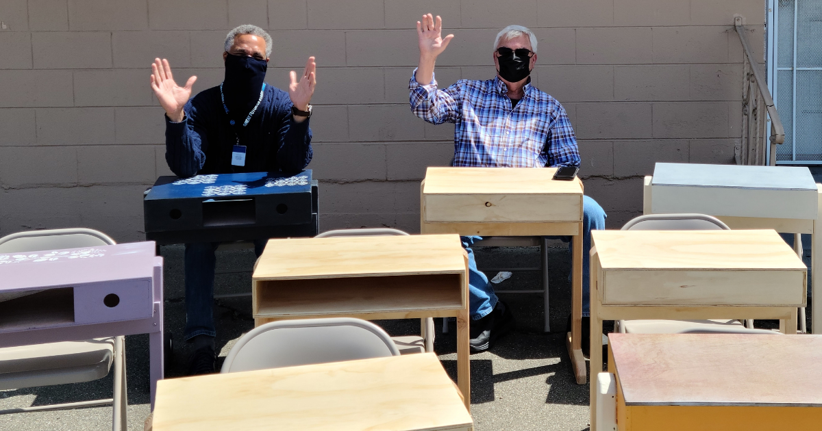 Desks for Kids at Contra Costa Boys and Girls Club 042621 (1)